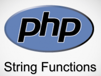 السلاسل النصية في PHP