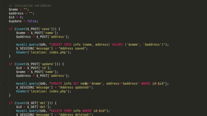 جلسات العمل Session في PHP